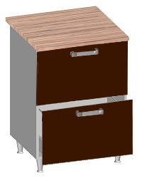 14.26 Стол-шкаф 600 с 2-мя ящиками. Размер 600х600х845