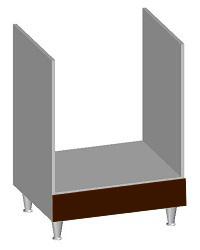 14.36 Встроенный шкаф 600 под духовку. Размер 600х600х845