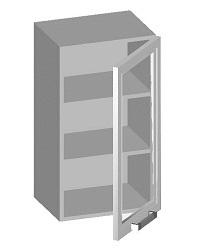 14.02 Шкаф навесной 400 со стеклянным фасадом. Размер 400х320х720