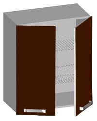 14.42 Шкаф навесной 600 с 2-мя глухими фасадами и сушкой. Размер 600х320х720