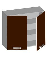 14.08 Шкаф навесной 800 с 2-мя глухими фасадами. Размер 800х320х720