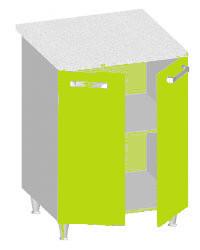 14.25 Стол-шкаф 600 с 2-мя глухими фасадами. Размер 600х600х845