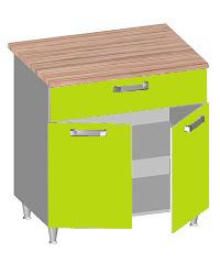 14.31 Стол-шкаф 800 с ящиком и 2-мя глухими фасадами. Размер 800х600х845