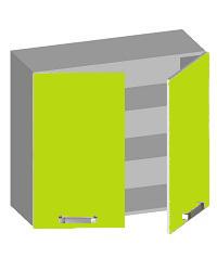 14.08 Шкаф навесной 800 с 2-мя глухими фасадами. Размер х800х320х720
