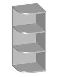 14.15 Шкаф навесной угловой с открытыми полками. Размер 300х298х720