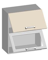14.16 Шкаф навесной 600 с 2-мя горизонтальными фасадами. Размер 600х320х720