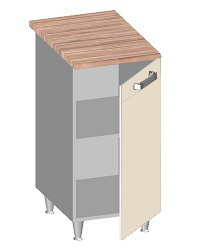 14.21 Стол-шкаф 400 с глухим фасадом. Размер 400х600х845