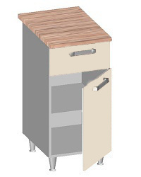 14.22 Стол-шкаф 400 с ящиком и глухим фасадом. Размер 400х600х845