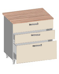 14.30 Стол-шкаф 800 с 3-мя ящиками. Размер 800х600х845