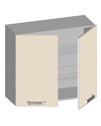 14.10 Шкаф навесной 800 с 2-мя глухими фасадами. Размер 800х320х720