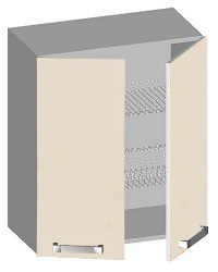 14.42 Шкаф навесной 600 с 2-мя глухими фасадами. Размер 600х320х720