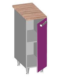 14.35 Стол-шкаф 300 с глухим фасадом. Размер 300х600х845