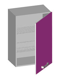 14.05 Шкаф навесной 500 с глухим фасадом и сушкой. Размер 500х320х720