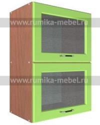 Шкаф В-500 2 газ с 2 стеклами Размер 500x300x720