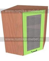 Шкаф ВУ угловой дверь со стеклом Размер 600x600x720