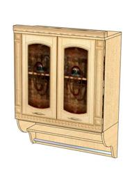 Шкаф-витрина с колоннами 03.11 800х310х1070