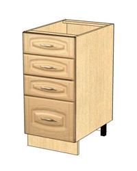 Стол с 4 ящиками метабоксы без столешницы 03.56.2 400х470х820