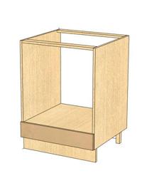 Стол под встраиваемую технику без столешнцы 03.57.1 600х470х820