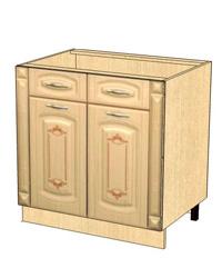 Стол с 2 ящиками с колоннами метабоксы без столешницы 03.63.2 800х470х820
