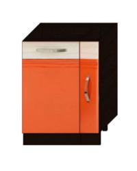 Панель для посудомоечной машины на 450 с бутылочницой на 150 без столешницы 09.68 600х530х820