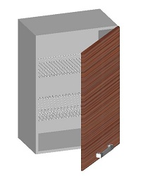 14.05 Шкаф навесной 500 с глухим фасадом и сушкой. Размер 720х500х320