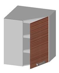 14.14 Шкаф навесной угловой с глухим фасадом. Размер 720х597х597