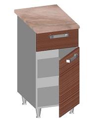 14.22 Стол-шкаф 400 с ящиком и глухим фасадом. Размер 845х400х600