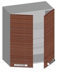 14.42 Шкаф навесной 600 с 2-мя глухими фасадами и сушкой. Размер 720х600х320