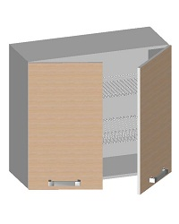14.10 Шкаф навесной 800 с 2-мя глухими фасадами и сушкой. Размер 720х800х320