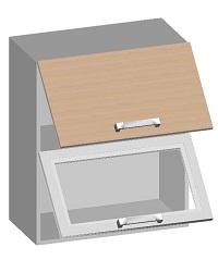 14.16 Шкаф навесной 600 с 2-мя горизонтальными фасадами. Размер 720х600х320