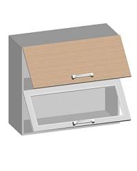 14.19 Шкаф навесной 800 с 2-мя комбинированными фасадами. Размер 720х800х320