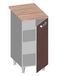 14.21 Стол-шкаф 400 с глухим фасадом. Размер 845х400х600