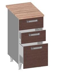 14.23 Стол-шкаф 400 с 3-мя ящиками. Размер 845х400х600
