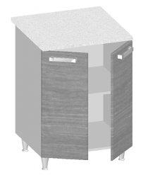 14.25 Стол-шкаф 600 с 2-мя глухими фасадами. Размер 845х600х600