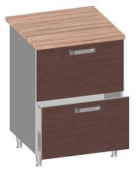 14.26 Стол-шкаф 600 с 2-мя ящиками. Размер 845х600х600