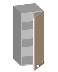 14.41 Шкаф навесной 300 с глухим фасадом. Размер 720х300х320