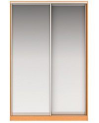Шкаф-купе Джонни Вариант 2 Фасады Зеркало и Зеркало Вес 135