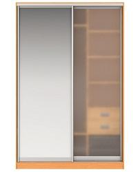 Шкаф-купе Джонни Вариант 6 Фасады Зеркало и Стекло матовое Вес 135