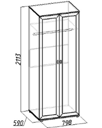Милана Шкаф для одежды 1 798х590х2113