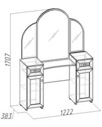 Милана Стол туалетный 1 1222х383х1707