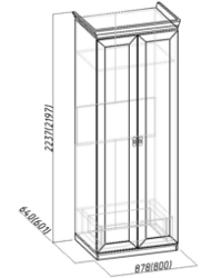 Montpellier Шкаф для одежды 1 864х633х2252