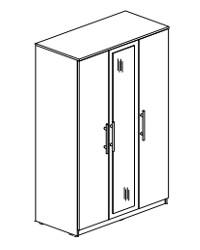 Шкаф 3-х дверный с зеркалом СТЛ.109.03 1200х590х2240